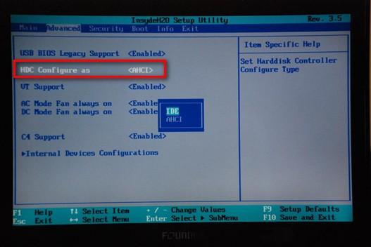 bios改硬盘模式图解; 方正笔记本电脑如何更改硬盘